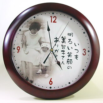 Original watch memories old photographs My Photo type wooden wall clock 10P28oct13