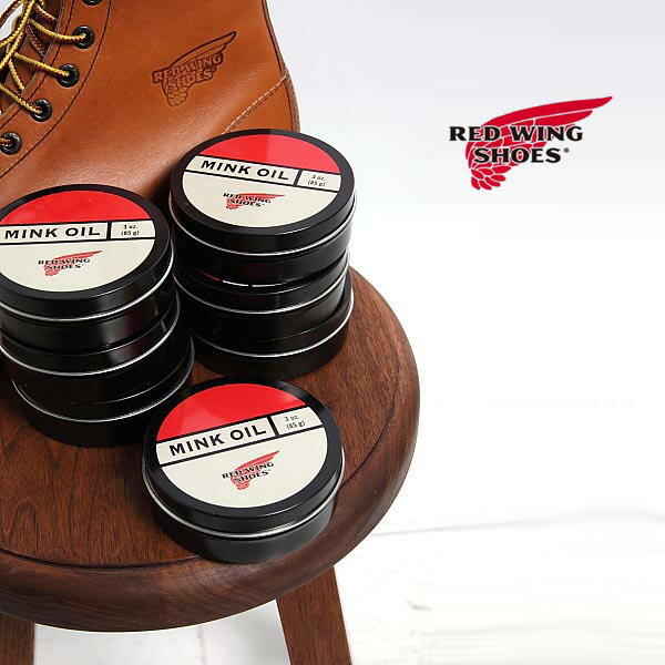 【P10倍!!&MAX1,000円割引クーポン配布!18日PM18時〜26日AM1:59迄】グッズ【RED WINGJAPAN正規品】RED WING/レッドウィング/MinkOil/ミンクオイル/品番:97105/シューズケア/保護、柔軟、防水、保革