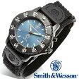 [正規品] スミス&ウェッソン Smith & Wesson ミリタリー腕時計 455 POLICE WATCH BLUE/BLACK SWW-455P [あす楽] [ラッピング無料] [送料無料]