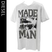 ディーゼル DIESEL メンズ半袖Tシャツ カジュアルTシャツ 丸首 T-COLORADO-RS T-SHIRT 00S10K-00DFM-100【新品・正規品】