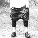 ★新タイプが遂に登場!【WORCA JACK】本革を贅沢に使用したレザーサルエルパンツ  モード系 レザーショーツ ワイドパンツ メンズ