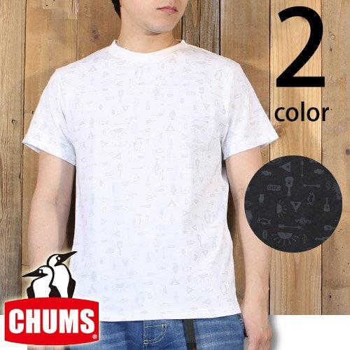 チャムス ファンインザサンパターンTシャツ