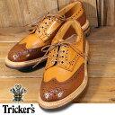 トリッカーズ Tricker's ウィングチップ シューズ 短靴 バートン Bourton ACORN×BEECHNUT M7292