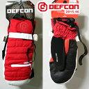 スノーボード グローブ ミトン DEFCON 15-16 STAYPUFF MITT/INFRA RED デフコン スノボー ミトングローブ【s7】