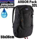 ●4月2日までポイント5倍●PATAGONIA パタゴニア リュック バッグ ARBOR GRANDE Pack 32L ブラック BK  アーバーグランデパック  バックパック・リュックサック 日本正規品【s6】