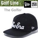 ニューエラ ゴルフ キャップ The Golfer メルトン New Eraロゴ ブラック × ホワイト 日本正規品(11474573)newera ゴルフキャップ【C1】 【s1】