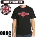 インディペンデント Tシャツ OGBC S/S ブラック Independent Mens T-Shirt  スケボー Tシャツ Independent Tシャツ【C1】【s2】