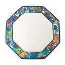 【中古】 Rosenthal / ローゼンタール 飾り皿 八角皿 絵皿 陶磁器 マルチカラー 21.5×21.5(cm) NT 美品 Aランク