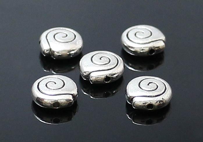 (6個入)ZN-48724スペーサー9mm×3mmパーツ メタル バラ売りメール便発送可