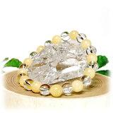 アラゴナイト×水晶AAA<天然石ブレスレット・パワーストーン>メール便○()【人間関係】【気力・体力】【楽ギフ包装】1【あす楽対応】