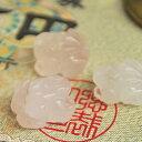 【ミニ蛙さん♪】蛙(ローズクォーツ)1個【金運アップ・財布に】インテリア 置物 かえる ローズクォーツ 天然石 パワーストーン(蛙 ローズクォーツ)天然石インテ...