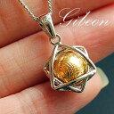 ギベオン隕石(メテオライト) ゴールドカラー ペンダントトップ ネックレス...