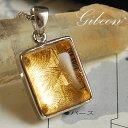 ギベオン隕石(メテオライト)スクエア(ゴールドカラー)ペンダントトッ...