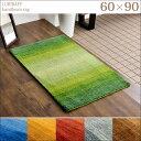 玄関マット 手織り ウールラグ 60×90 厚手 ウール 100% マット ラグ 玄関 ギャベ グラデーション 北欧 ラグマット ギャッベ インドギャベ 絨毯 じゅうたん おしゃれ 送料無料