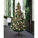 クリスマスツリー クリスマス おしゃれ オーナメント 北欧 LED 210cm 飾り 送料無料 ナチュラリーゴールドツリーセット H210×W120cm 1セット