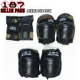 【187 Killer Pads】Junior Six Pack Pad Set(キッズ用プロテクター 子供 防具 スケートボード スケボー)/