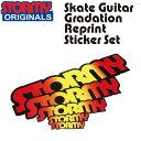 【STORMY】Original Skate Guitar Gradation Reprint Sticker Set(ストーミー オリジナル スケボー スケートボード ギター グラデーション 復刻 ステッカー セット)