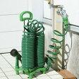 【2160円以上送料無料】ガーデンコイルホース スタンドセット グリーン 12m F6253 ホースリール