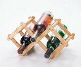 【2000日元以上】张开 木制葡萄酒瓶架[【2160以上】フレア 木製 ワインボトルラック]
