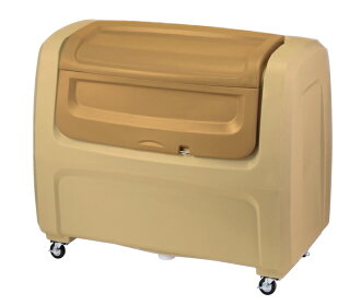 Large-scale trash box dust box DX caster type beige #800 800L DX8BE for cough Sui duties