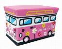 【2160円以上送料無料】 ユーカンパニー ストレージボックススツール ワゴンバス フラワーピンク14582