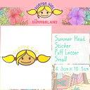 送料100円可能!【SURFeR GiRL(サーファーガール)】Summer Head surfergirl Sticker Puff Letter Small...