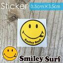 Smiley Surf(スマイリーサーフ) 品番SS-037 Simple Surf Face シンプルサーフフェイス ステッカー ミニサイズ スモールサイズ サーフィ..