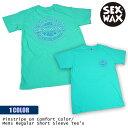 ショッピングロゴス SEXWAX セックスワックス Tシャツ Pinstripe on Comfort Color Mens Regular Short Sleeve Tee's 半袖 ロゴ スカイブルー メンズ 品番 0101313000207 日本正規品