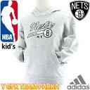 NBA キッズ パーカー ブルックリンネッツ スウェット バスケットウェア 子供服 NBA NETS adidas DDW21