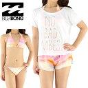 セール BILLABONG AG013822 ビラボン 水着 ビキニ ボードショーツ Tシャツ 3点セット レディース
