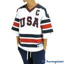 チャンピオン メンズ 半袖Tシャツ C3-J432 ホッケーシャツ ロゴ刺繍 CHAMPION