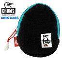 CHUMS コインケース ブラックブルー CH60-2187 エッグ カラビナ付き スエット アウトドア チャムス