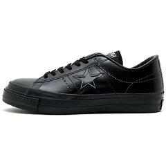 CONVERSE-ONE-STAR-J-コンバース-ワンスターJ-レザースニーカー-日本製シューズ-ブラック-黒色-32346517