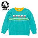 キッズ トレーナー (100〜130cm) crocs 145150 クロックス スウェット 裏起毛 子供服 ジュニア