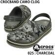 迷彩 メンズクロッグサンダル クロックス クロックバンド CROCS チャコール