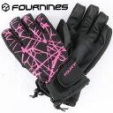 フォーナインズ スノーグローブ レディーススノボーグローブ スノーボード 防寒 総柄 ピンク