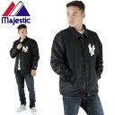 【SALE】ボア付きコーチジャケット黒 ヤンキース マジェスティック MAJESTIC MM23-NYK-0106 メンズジャケット