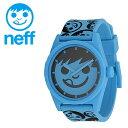 NEFF 腕時計 ロゴ入り 男女兼用 シンプル : ネフ 時計 メンズ レディース 「DAILY SUCKER」 CYAN S-BAND