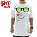 ショートスリーブTシャツ TS1420SP メンズTシャツ 半袖 ネスタブランド サングラスプリント NESTA BRAND 白色 通販 販売 即納 人気 ロゴプリントTシャツ 半そで 2014 ホワイト