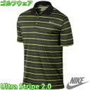 NIKE GOLF ナイキ メンズ ゴルフウェア ポロシャツ ウルトラ ストライプ 2.0 男性用 半袖ポロ 599064