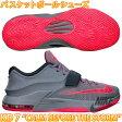 NIKE KD7 ナイキ KD VII グレー×ピンク メンズ バスケットボールシューズ バッシュ スニーカー 靴 653996 ケビン・デュラント オクラホマシティサンダー 販売 通販 人気 おすすめ バスケシューズ トレーニングシューズ