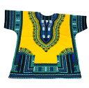 ダシキ Dashiki (黄色,Yellow) アフリカ アフリカン アフリカンシャツ アフリカ民族衣装 民族衣装 衣装 ヒップホップ ダンス ダンサー