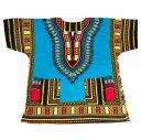 ダシキ Dashiki (ライトブルー,Light Blue) アフリカ アフリカン アフリカンシャツ アフリカ民族衣装 民族衣装 衣装 ヒップホップ ダンス ...