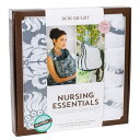 ベベオレ 授乳 ケープ &バープクロスセット Bebe Au Lait 【 シャトーシルバー 】 ギフトセット ナーシングカバー Nursing Essentials