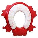 送料無料 カリブ Karibu 補助便座 PM2697 ステップ付 トイレトレーナー クッション付 【 レッド 】