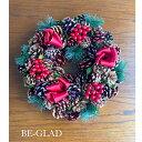 ショッピングクリスマスリース 送料無料 BE-GLADセレクト商品 クリスマスリース 飾り 壁掛け ドア