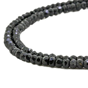 ブラックスピネル ネックレス グレード ブラック ダイヤモンド