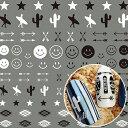楽天スタジオ ネイル◎TSUMEKIRA ツメキラ HIDEKAZU プロデュース5 ビーチスタイル ワンポイントマーク NN-HDK-105【ネイルシール にこちゃん サボテン 矢印 アロー スター 星 モノクロ ボヘミアン 夏】