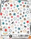 在庫一掃 最終値下げ メール便送料無料 写ネイル more ネイルシール MFSTR-001 Fabric Star 写ネイル More 写ネイル More ネイルシール モア スター 星 コラージュ アート