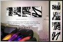 marimekko(マリメッコ) ファブリックパネル ファブリックボード TUULI(BLK)[ご注文サイズ:W30cm×H30cm×4枚set]北欧 ファブリック